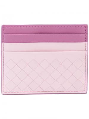 Визитница Intrecciato Bottega Veneta. Цвет: розовый и фиолетовый