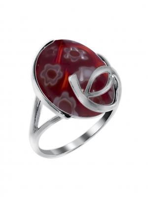 Серебряное кольцо KRASNOE. Цвет: серебристый, красный