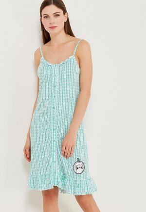 Сорочка ночная Relax Mode. Цвет: зеленый