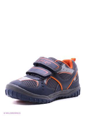 Ботинки Kari. Цвет: темно-серый, оранжевый, синий