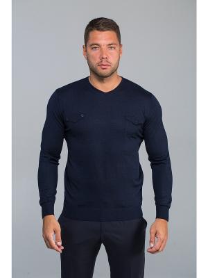 Пуловер John Jeniford. Цвет: темно-синий
