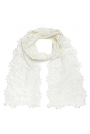 Кружевной шарф 157993 Plauener Spitze. Цвет: бежевый