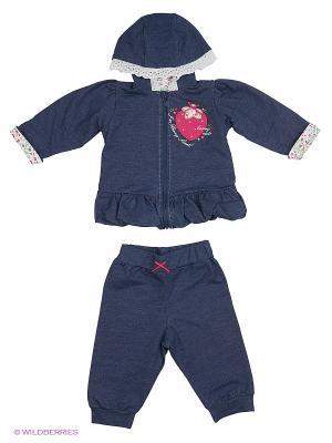 Комплект (толстовка, брюки) Soni kids. Цвет: синий