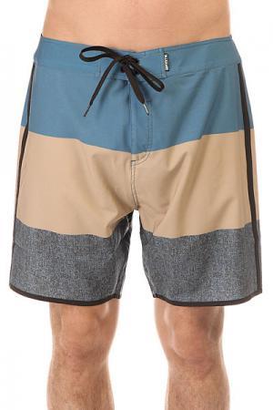 Шорты пляжные  Lodown Boardshort 18 Beige Mystic. Цвет: бежевый,голубой