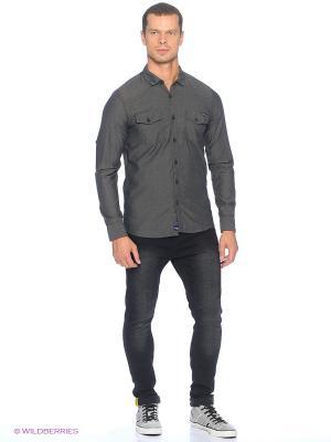 Рубашка Cropp. Цвет: серый