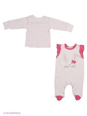 Комплект одежды Linas Baby. Цвет: бежевый, фуксия