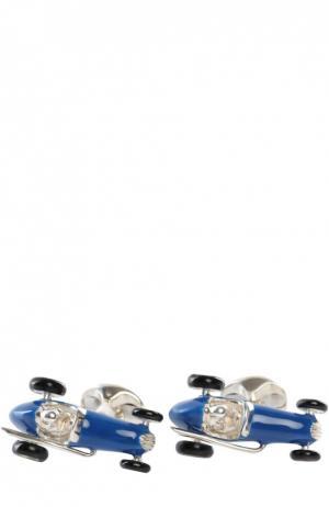 Запонки Deakin&Francis. Цвет: синий
