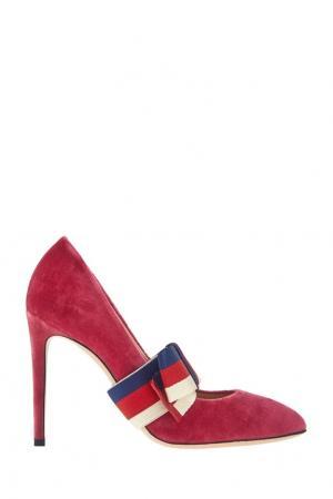 Бархатные туфли Gucci. Цвет: розовый