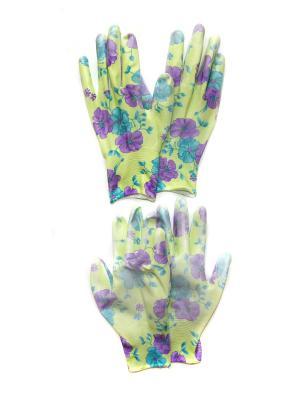 Садовые перчатки, 2 пары DiMi. Цвет: зеленый