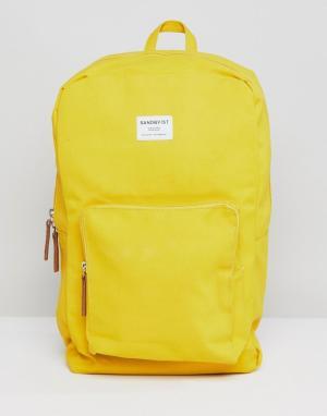 Sandqvist Желтый рюкзак Kim. Цвет: желтый