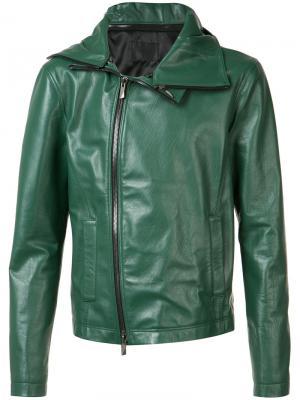 Куртка на молнии D.Gnak. Цвет: зелёный