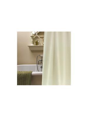 Штора для ванной комнаты 178х180см  бежевая,полиэстер NIKLEN. Цвет: бежевый