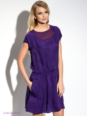 Платье HUGO BOSS. Цвет: фиолетовый