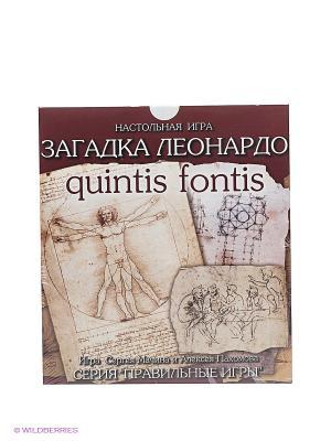 Настольная игра Загадка Леонардо. Quintis Fontis Правильные игры. Цвет: бежевый