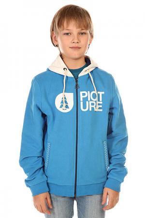 Толстовка классическая детская  Basement Ml Zip Blue Picture Organic. Цвет: голубой,белый