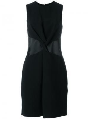 Платье шифт с драпировкой Victoria Beckham. Цвет: чёрный