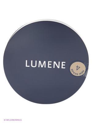 Матирующая компактная пудра с эффектом сияния Lumene  4 Теплый бежевый, 10 гр. Цвет: бежевый