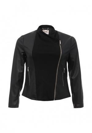 Куртка кожаная Fiorella Rubino. Цвет: черный