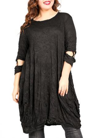 Платье-туника VALERIA FRATTA. Цвет: черный