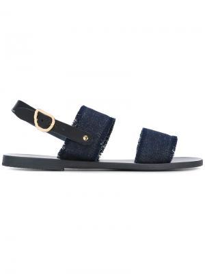 Denim sandals Ancient Greek. Цвет: синий