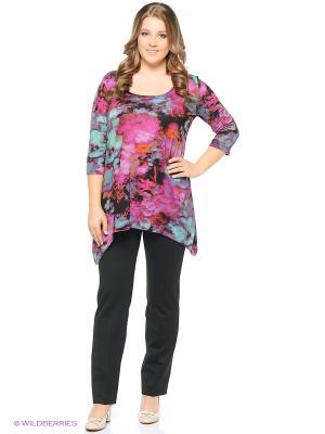 Блузка BERKANA. Цвет: малиновый, черный, бирюзовый