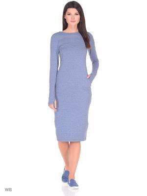 Платье для кормящих мам PURE MA синее, миди MilkyMama