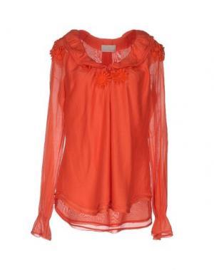 Блузка ROBERTA SCARPA. Цвет: оранжевый