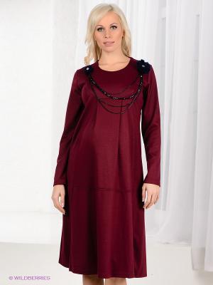 Платье Livaa. Цвет: сливовый