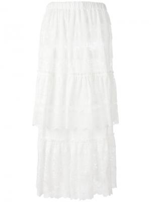 Кружевная юбка Junya Watanabe Comme Des Garçons. Цвет: белый