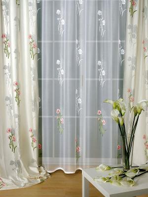 Комплект штор Haft. Цвет: бежевый, белый, зеленый, оранжевый