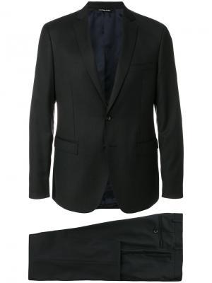 Классическое однобортное пальто Tonello. Цвет: серый