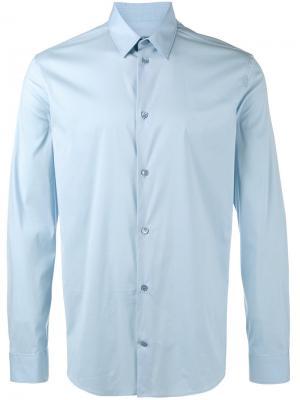 Классическая рубашка Balenciaga. Цвет: синий