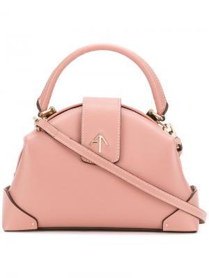 Сумка через плечо с верхней ручкой Manu Atelier. Цвет: розовый и фиолетовый