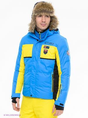 Куртка CMP. Цвет: голубой, желтый