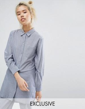 Lazy Days Ночная сорочка в полоску. Цвет: синий