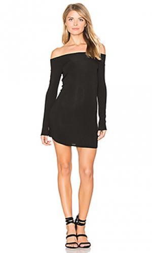 Платье со спущенными плечами jimmy Riller & Fount. Цвет: черный