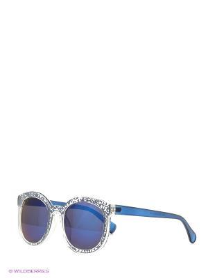 Солнцезащитные очки Vita pelle. Цвет: синий