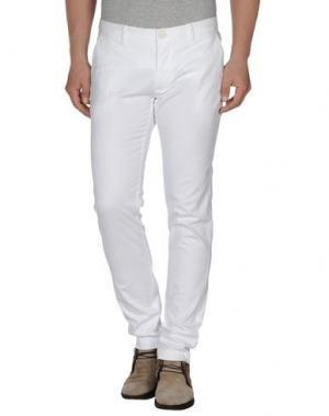 Повседневные брюки MANUEL RITZ WHITE. Цвет: белый