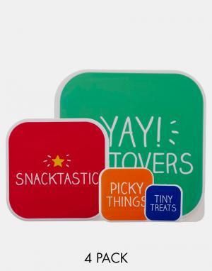 Happy Jackson 4 коробки для завтрака Snacktastic. Цвет: мульти