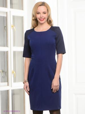 Платье Capriz. Цвет: темно-синий, черный