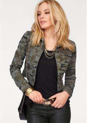 Джинсовая куртка MELROSE. Цвет: хаки