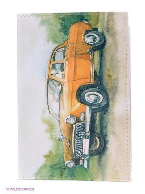 Обложка для автодокументов ГАЗ Mitya Veselkov. Цвет: зеленый, желтый, белый