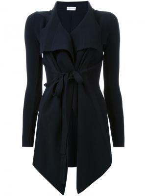 Открытый драпированный пиджак с поясом Scanlan Theodore. Цвет: синий