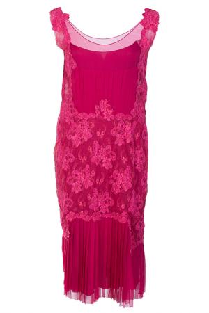Платье Alberta Ferretti. Цвет: красный