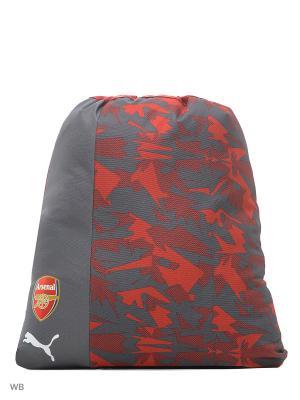 Мешок для обуви Arsenal Camo Fanwear Gym Sack PUMA. Цвет: красный, серый