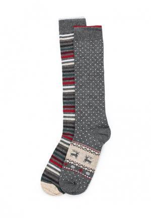 Комплект носков 2 пары United Colors of Benetton. Цвет: серый