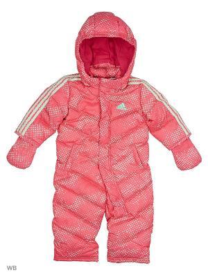 Комбинезон дет. спорт. I SMU DOWN SUIT  SUPPNK/FROGRN Adidas. Цвет: розовый