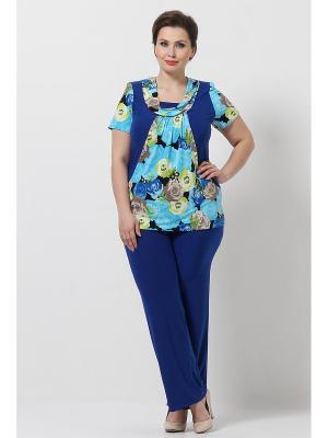 Комплект одежды Lina. Цвет: темно-синий