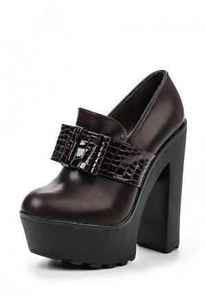 Туфли Playgirl. Цвет: коричневый