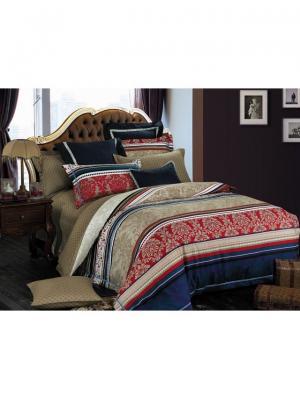 Комплект постельного белья ROMEO AND JULIET. Цвет: темно-синий, темно-красный, терракотовый